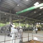 高速道路門型標識柱工場製作